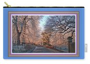 Dundalk Avenue In Winter. L A With Decorative Ornate Printed Frame. Carry-all Pouch