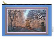 Dundalk Avenue In Winter. L B With Decorative Ornate Printed Frame. Carry-all Pouch
