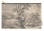 Dune Landscape With Oak Tree Carry-all Pouch