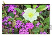 Dune Primrose Oenothera Deltoides And Purple Sand Verbena Carry-all Pouch