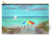 Dunes Beach Colorful Umbrella Carry-all Pouch