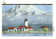 Dungeness Lighthouse With Mount Baker Carry-all Pouch