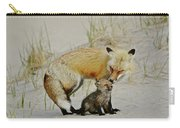 Dunr Fox Father And Child Carry-all Pouch