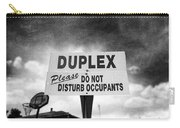 Duplex Yard Sign Stormy Sky In Bw Carry-all Pouch