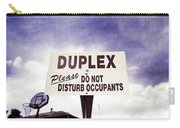 Duplex Yard Sign Stormy Sky Carry-all Pouch