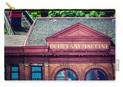 Duquesne Incline Of Pittsburgh Carry-all Pouch by Lisa Russo