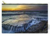 Dusk At Torregorda Beach San Fernando Cadiz Spain Carry-all Pouch