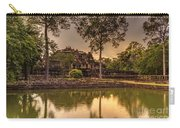 Dusk Light Preah Khan Temple Reflection Carry-all Pouch