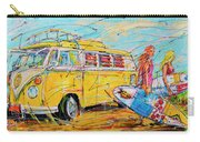 Dutch Holiday, Yellow Surf Bus Carry-all Pouch