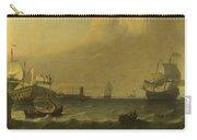 Dutch Men Of War Entering A Mediterranean Port Carry-all Pouch