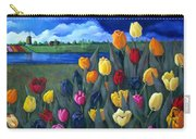 Dutch Tulips With Landscape Carry-all Pouch