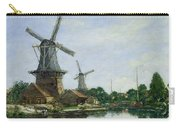 Dutch Windmills Carry-all Pouch by Eugene Louis Boudin