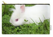 Dwarf White Bunny Spring Scene Carry-all Pouch