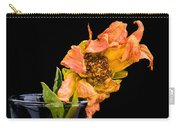 Dying Dahlia Flower Carry-all Pouch