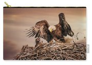 Bald Eagle And Eaglet In Nest Carry-all Pouch