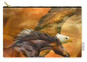 Eagle And Horse - Spirits Of The Wind Carry-all Pouch
