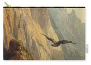 Eagle Circling Before A Cliff Face Carry-all Pouch