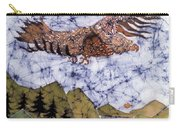 Eagle Flies Above Gorge Carry-all Pouch by Carol Law Conklin