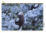 Eagle In A Frosted Tree Carry-all Pouch