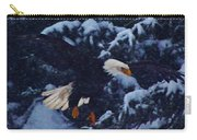 Eagle In The Storm Carry-all Pouch
