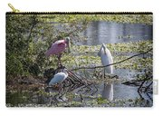 Eagle Lakes Park - Roseate Spoonbill And Friends, Socializing Carry-all Pouch