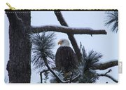 Eagle On A Frosted Limb Carry-all Pouch