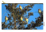 Ear-full Of Waxwings Carry-all Pouch