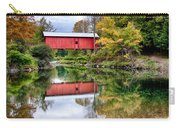 Early Fall Colors Surround A Covered Bridge In Vermont Carry-all Pouch