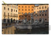 Early Morning Glow - Neptune Fountain On Piazza Navona In Rome Italy Carry-all Pouch