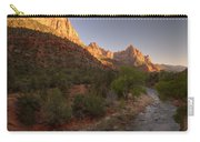 Early Morning Hike At Zion National Park  Carry-all Pouch