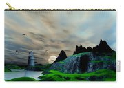 Early Morning Ocean Lighthouse Scene Carry-all Pouch