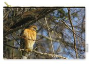 Early Morning Still Hunting  Coopers Hawk Art Carry-all Pouch