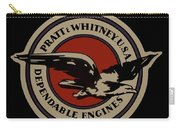 Early Pratt And Whitney Company Logo Carry-all Pouch