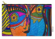 Earth And Aqua Mask - Abstract Face Carry-all Pouch