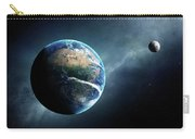 Earth And Moon Space View Carry-all Pouch