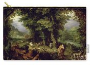 Earth Or The Earthly Paradise Carry-all Pouch by Jan the Elder Brueghel