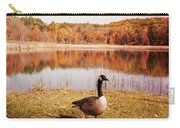 Earth Tone Autumn Pond Goose Carry-all Pouch