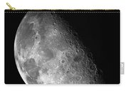 Earth's Moon In Black And White Carry-all Pouch