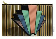 Earth Tones Chevron 3 D Carry-all Pouch