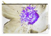 Earthy Brown And Purple Poppy Carry-all Pouch