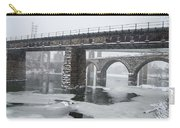 East Falls - The Frozen Schuylkill River Carry-all Pouch