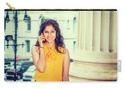 East Indian Woman Calling Outside Carry-all Pouch