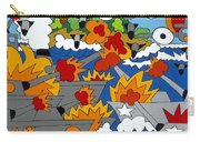 East Meets West Carry-all Pouch by Rojax Art