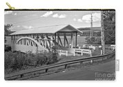 East St. Claire Covered Bridge Black And White Carry-all Pouch