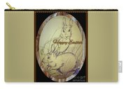 Easter Bunny  Greeting 5 Carry-all Pouch
