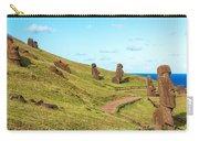 Easter Island Moai At Rano Raraku Carry-all Pouch