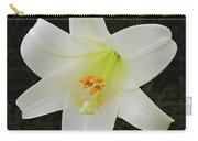Easter Lily With Black Background Carry-all Pouch
