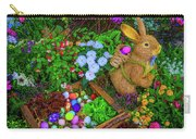 Easter Rabbit In Garden Carry-all Pouch