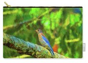 Eastern Blue Bird With Flair Carry-all Pouch