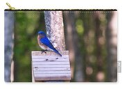 Eastern Bluebird Perched On Birdhouse 2 Carry-all Pouch